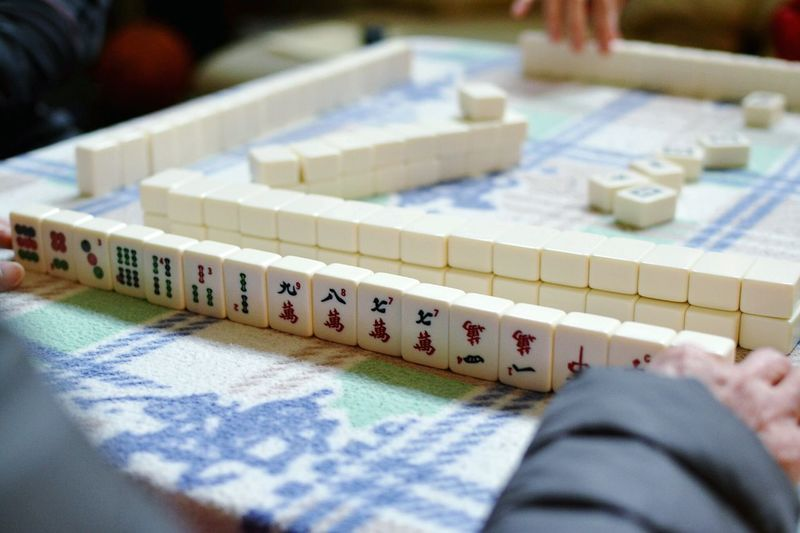 Close-up of people playing