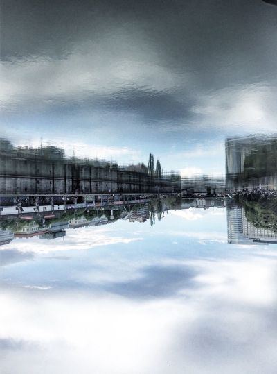 Donaukanal Vienna Wien Donaukanal Summer Cloudy Bluesky Réflexion Water Blue The Architect - 2016 EyeEm Awards