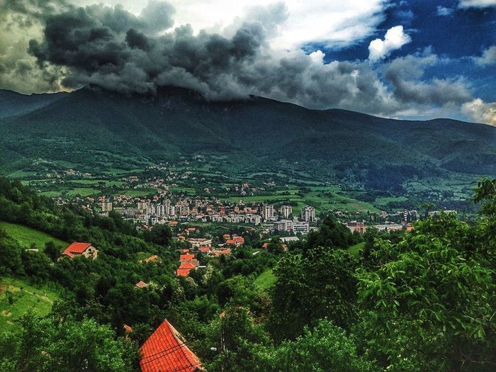 Travnik Vlasic Sky And Clouds Mountain View Green Color Landscape