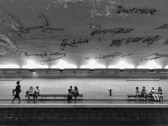 Clunylasorbonne Station 😀 Paris France Photooftheday People Lifestyles Track Streetphotography Iphoneonly Iphonephotography EyeEmBestPics EyeEm IPhoneography EyeEm Best Shots Place To Visit Outofthephone IPhoneography Bnwmood Blackandwhite Travel Destinations Tourist Attraction  City Bnw Light