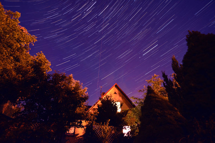 Long Exposure Night Scenics Sky Star - Space Star Trails Stars Tranquil Scene Universe