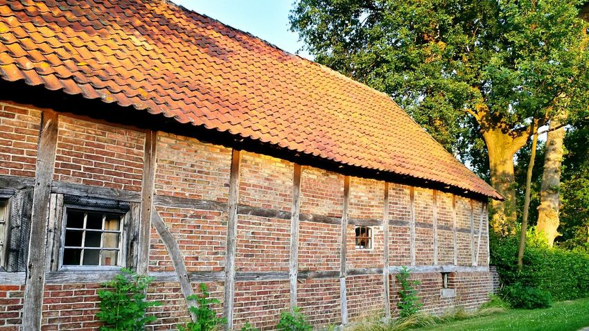 Wedemark I Love My Village Northern Germany Old Buildings Connected With Nature Old Shed The Old Shed Backsteinhaus Backstein Stall