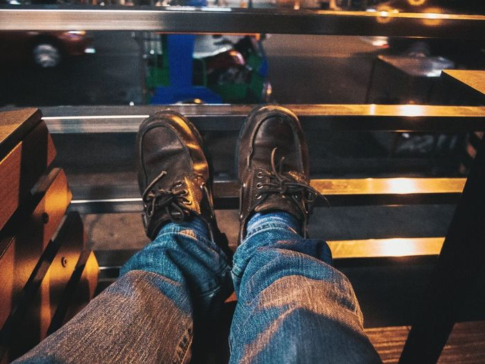 Feet up Lifestyles Personal Perspective Shoe Close-up Real People Adults Only Leisure Activity Low Section Leon Guinto Olympus OLYMPUS PEN E-P3 The Street Photographer - 2017 EyeEm Awards Out Of The Box EyeEm Best Shots