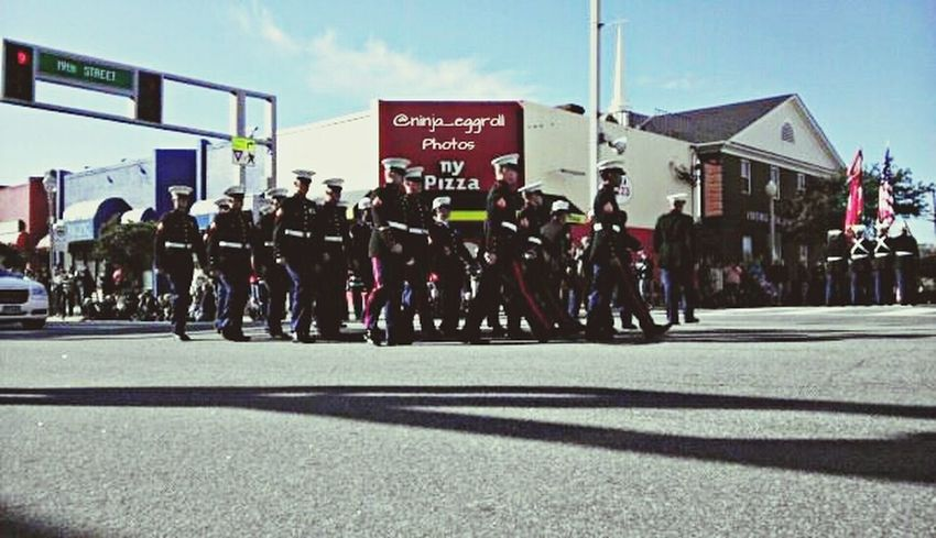 2013 Veterans Day Streetparade Parade the Marines