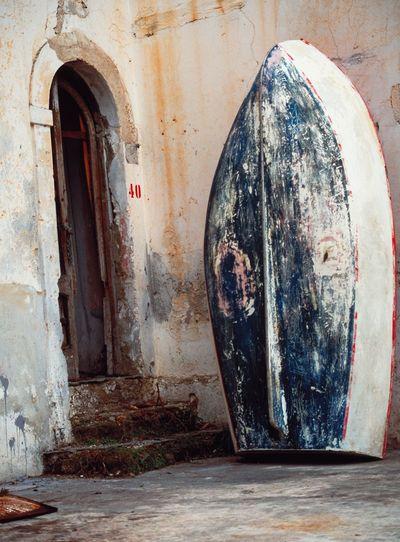 Close-up of open door