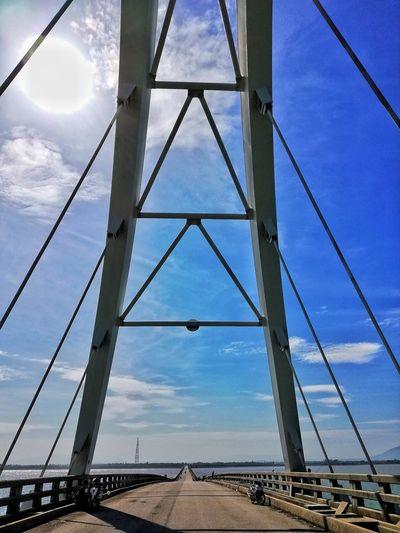 Far away Ocean Clear Sky Bridge Sky Cloud - Sky Suspension Bridge EyeEmNewHere