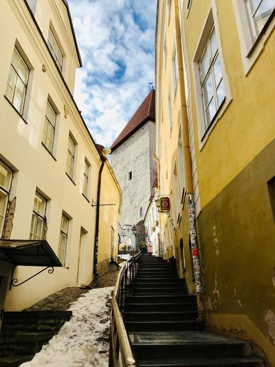 Estonia Tallinn Tallinn Old Town Architecture Tallinn Estonia Baltic Countries Architecture The Way Forward Built Structure Direction Building Exterior Building Sky Steps And Staircases Cloud - Sky Nature Residential District Staircase City Day Town Sunlight Diminishing Perspective Narrow No People Outdoors