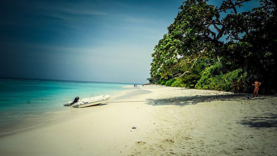 пляж белый песок Таиланд остров