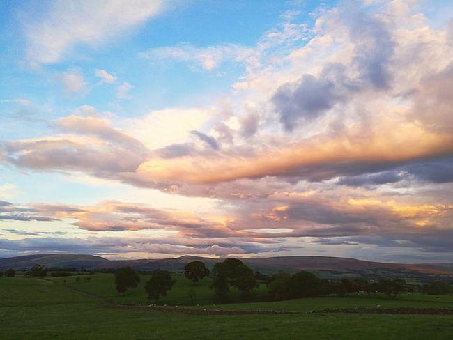 Cumbria England UK Landscape North West England Sunset