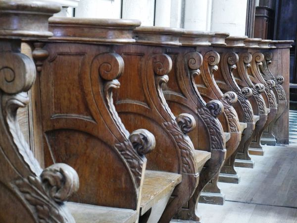 Pews Pews Wood Seats Amiens Cathedral Cathedral Des Notes Dames Church