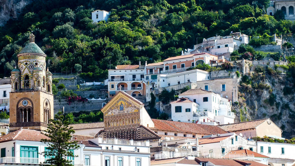 Architecture Built Structure Building Exterior Building City No People Residential District Amalfi  Outdoors Religion Duomo Amalficoast Cattedrale Di Sant'Andrea Duomo Di Amalfi Cathedral High Angle View Saint Andrews Cathedral Italy Scenic View Scenics
