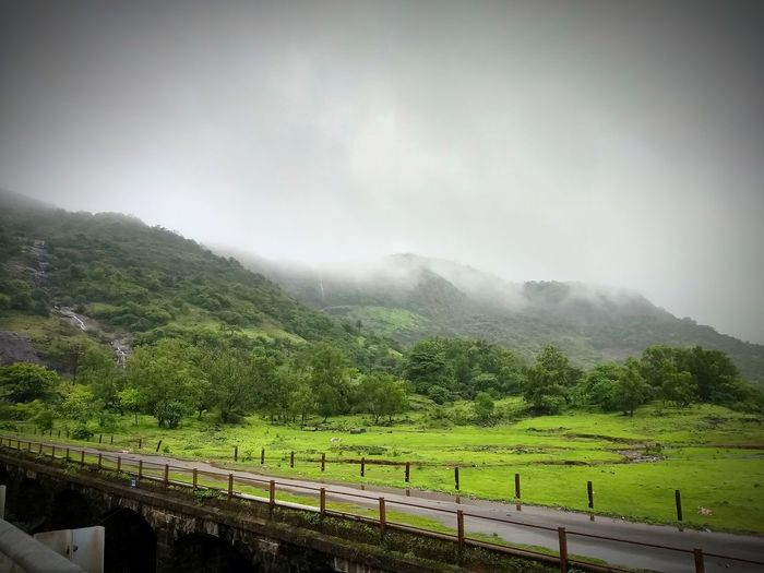 lovely monsoon Tree Water Mountain Irrigation Equipment Rural Scene Agriculture Fog Sky Landscape Cloud - Sky