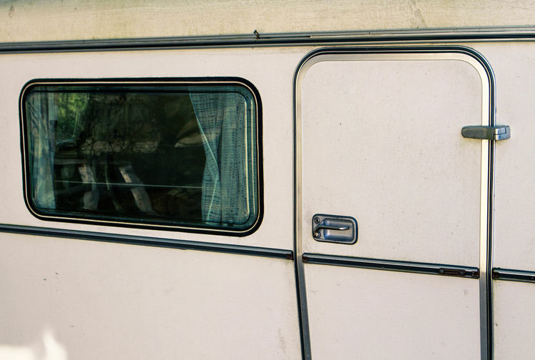 Window Of Parked Van
