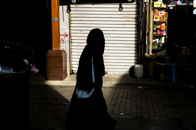 Fuji X-M1 Kuwait Silhouette Street Photography Philippines Arab Women Day People Shadow Street Color Streetphotography Walking Women