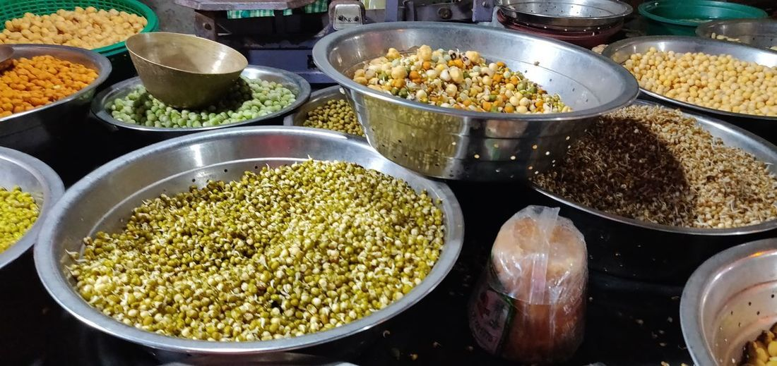 Sprouts Pulses Legume Family Bean Choice Market Variation Spice Retail  Food And Drink