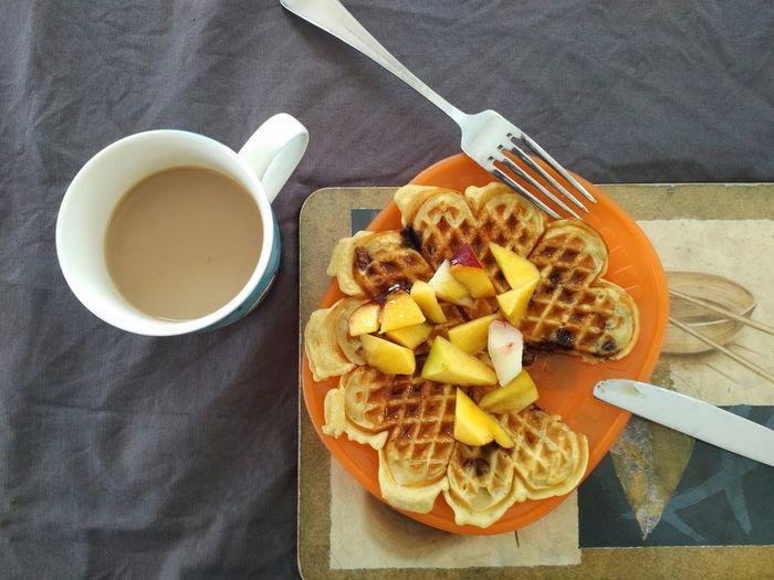 Summer Fruits Fruit Breakfast Waffel Food