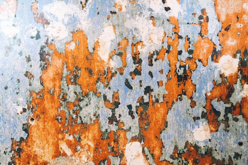 Architecture Backgrounds Built Structure Close-up Damaged Day Full Frame No People Obsolete Old Old Ruin Old-fashioned Orange Color Outdoors Paint Rough Run-down Rusty Temperature Textured  Wall - Building Feature Weathered