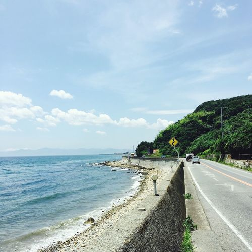 Road Sea Day Country Road Sky No People Awajishima Hyogo Iphone6s IPhoneography