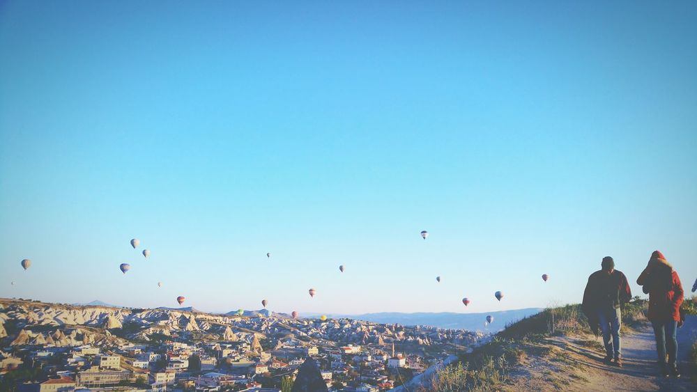 Cappadocia Hot Air Balloons Hidden Gems  Friendship Take The Road Less Travelled Turkey People Together Travel Photography Taking Photos EyeEm Best Shots This View Popular Hello World Popular Photo