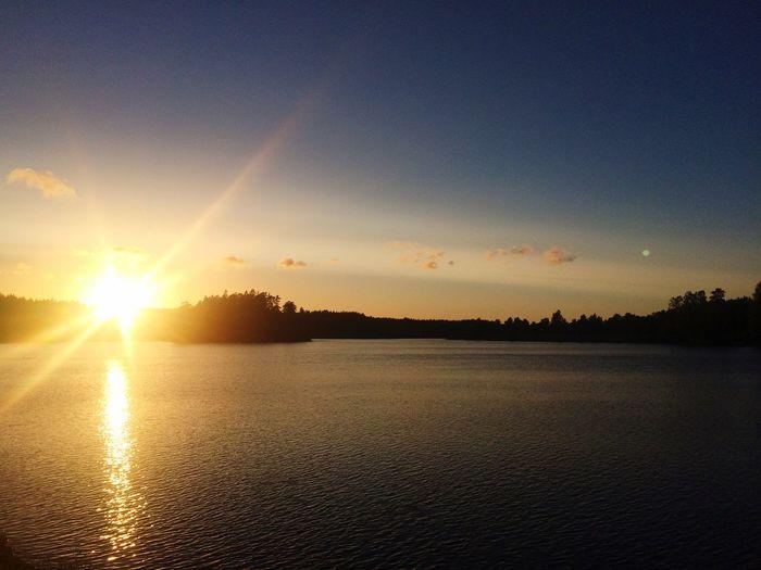 Sky Lake Sunset Sweet Nature Enjoying Life Summertime Outdoors EyeEm Nature Lover Beautiful Sunrise