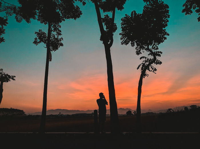 Landscape Sunset Siluet Politics And Government Full Length Photography Themes Tree Area Silhouette Standing First Eyeem Photo