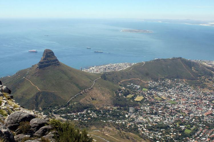 Aerial View Day Landscape Lions Head Mountain No People Outdoors Scenics Sea Signal Head Table Mountain View Tranquil Scene Tranquility