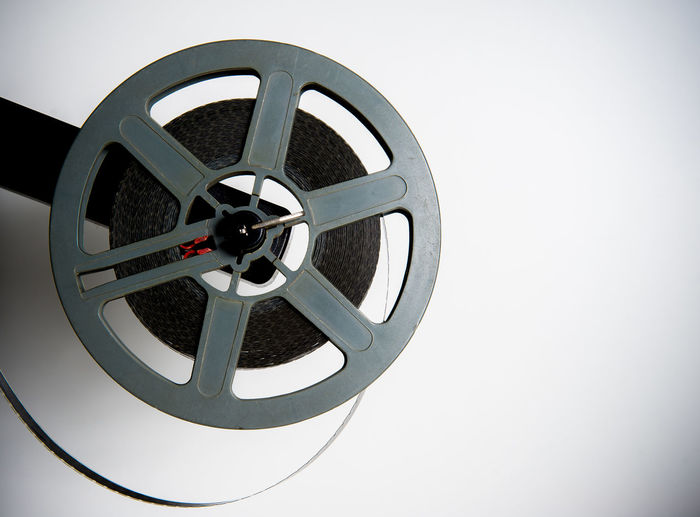 Vintage movie symbol Cinema Close-up Film Gray MOVIE No People Projector Reel Super 8 Vintage