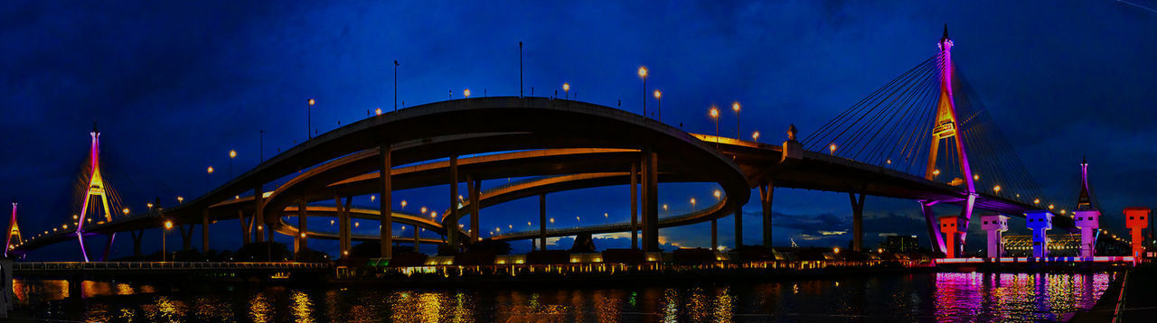 Architecture Bay Bridge Bridge - Man Made Structure Building Exterior Built Structure City Cityscape Connection Dusk Illuminated Nature Night No People Office Building Exterior Outdoors Panoramic Reflection River Sky Skyscraper Transportation Travel Destinations Water