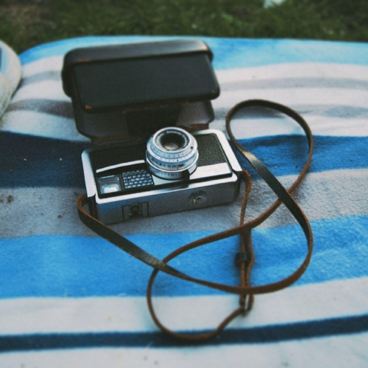 Close-up of instamatic camera