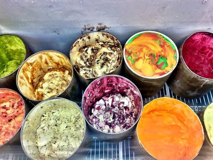 Food Ice Cream Ice Cream Parlor Ice Cream Display Multi Colored