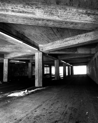 Empty spaces Streetphoto_bw Streetphotography Blackandwhite Architecture Built Structure Indoors  Architectural Column No People Day Underneath