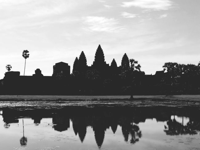 History in reflection. Ankorwat Siem Reap Cambodia Sightseeing History Reflection_collection Reflection Water Reflections Dawn Mystic