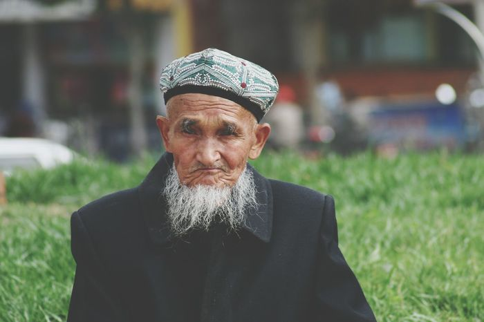Xinjiang Of CHINA Faces Of EyeEm Man Face Lifestyles Front View Man Hat White Beard Bearded People And Places Old Man Portrait The Portraitist - 2017 EyeEm Awards The Portraitist - 2018 EyeEm Awards