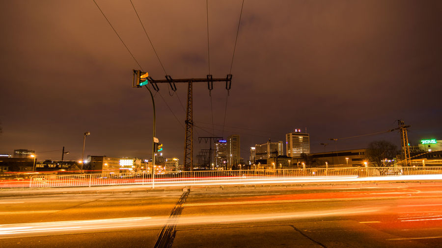 EyeEm Best Shots Night Lights Nightlife City Cityscape Cityscape Photography Nikon D7200 Ruhrgebiet Ruhrpott Ruhrpottromantik Architecture Blurred Motion Building Exterior High Street Illuminated Light Trail Long Exposure Motion Night No People Outdoors Road Sky Speed Street Light Transportation Urban Scene Mobility In Mega Cities Stories From The City HUAWEI Photo Award: After Dark