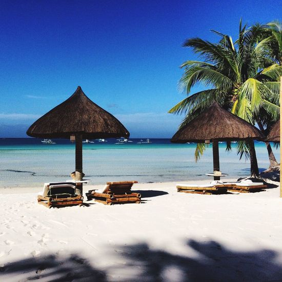 Boracay Sea Water Beach Scenics Beauty In Nature Nature Horizon Over Water Clear Sky Tranquility Blue Sand Outdoors Day No People Sky Fridays Postcode Postcards