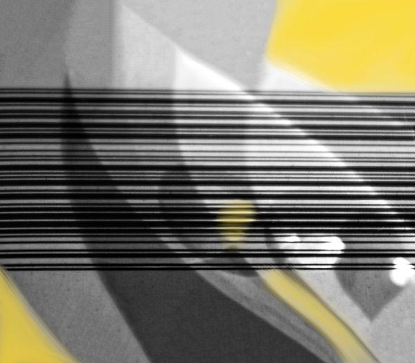 High angle view of yellow shadow on wall