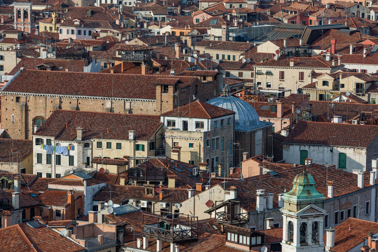 Architecture Building Exterior Built Structure City Cityscape Community Day High Angle View House No People Old Town Outdoors Residential Building Roof Sky Tiled Roof  Town Travel Destinations Venice