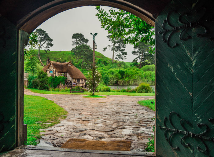 Day Fantasy Green Color Hills Hills And Valleys Hobbiton Hobbits Lord Of The Rings Nature New Zealand New Zealand Scenery No People Old Town Outdoors Sky Tree