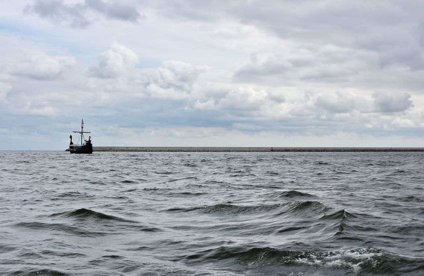 Baltic Sea Boat Cloud Cloud - Sky Day Horizon Over Water Küste Meer Mode Of Transport No People Nordmann Ostsee Outdoors Sailboat Sailing Sea Seascape See Ship Sky Water Waterfront Wikinge Both Wikinger