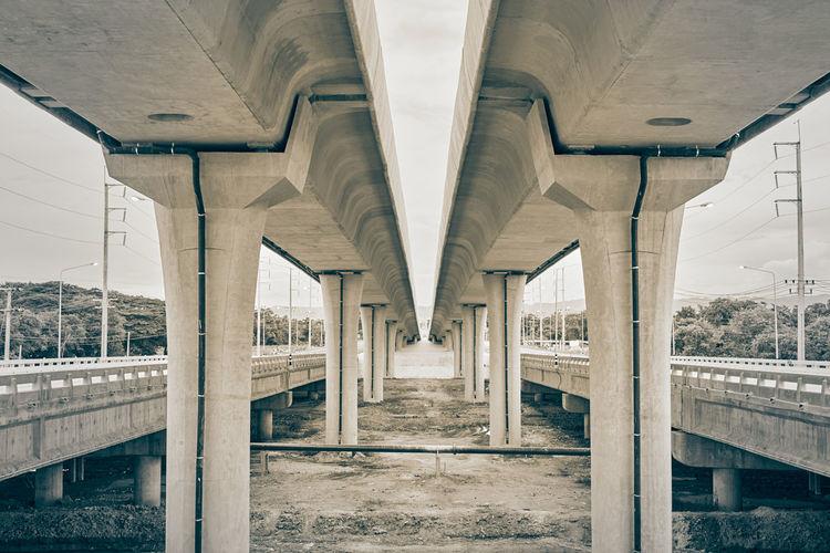 Interior of bridge