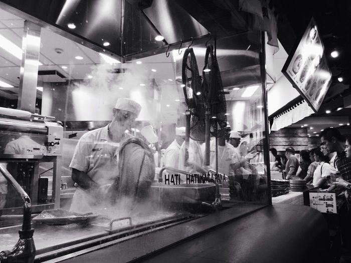 the hungry line Udon Blackandwhite Japanese Food Jakarta