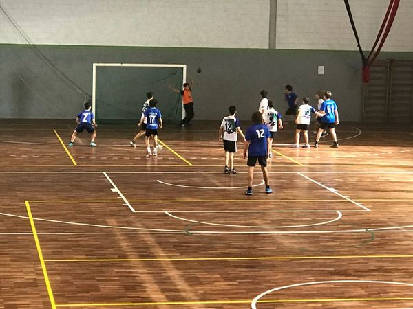 The ball is in the air! It will be goal? Handball Match Sport Group Of People Athlete Competition Sportsman Sports Team Court Competitive Sport Exercising Teamwork Cooperation Lifestyles Playing Healthy Lifestyle Practicing Clothing Sports Uniform People