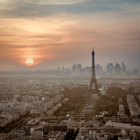 Architecture Building Exterior Built Structure Capital Cities  City City Life Cityscape Cloud - Sky Eiffel Eiffeltower Europe France Modern No People Office Building Outdoors Paris Residential Building Residential District Sky Skyscraper Sunset Tall - High Tower Travel Destinations