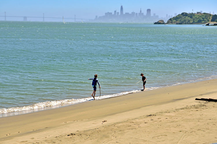 Quarry Beach At Angel Island 4 Tiburon, Ca. Eastern Shore Angel Island State Park  Cove Quarry Beach Quarry Point Fort McDowell San Francisco Skyline San Francisco Bay Sand Bay Bridge Boys On The Beach Enjoying LifeWave Driftwood Sailboats Sailing Bayview Nature Beauty In Nature Nature_collection Landscape_Collection Landscape_photography