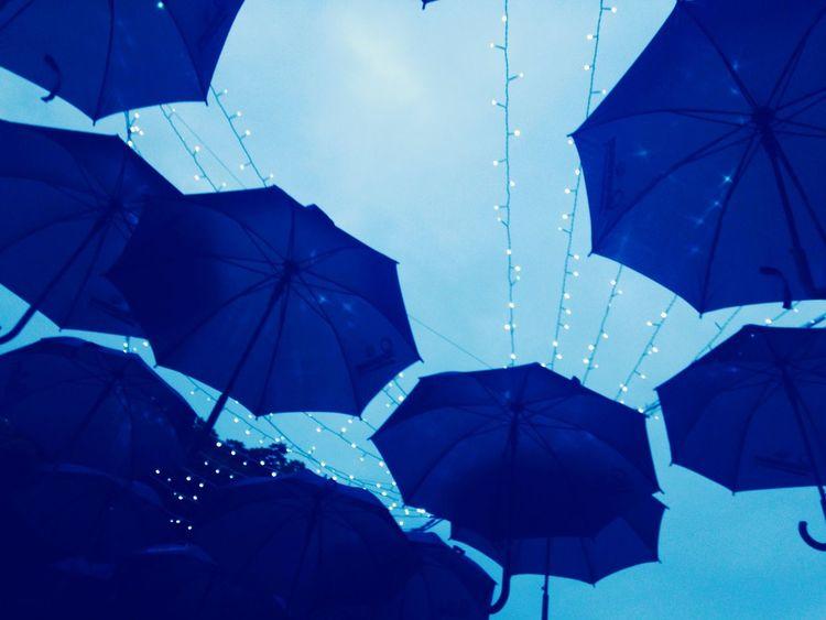 Enjoying Life Blue Skies umbrella skies Escaping