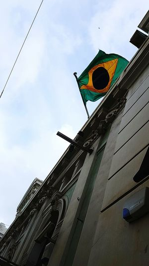 Portugal Europe Brasil BrasilianGirl Sky Embassy Consulate Flags In The Wind  Flag Bandeira Bandeirabrasileira Brasilianflag Bandeira Nacional National Flag No People
