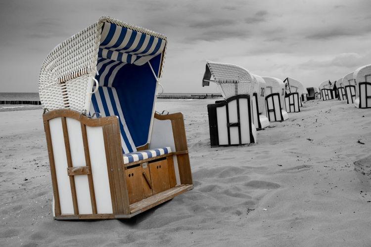 Strandkorb an