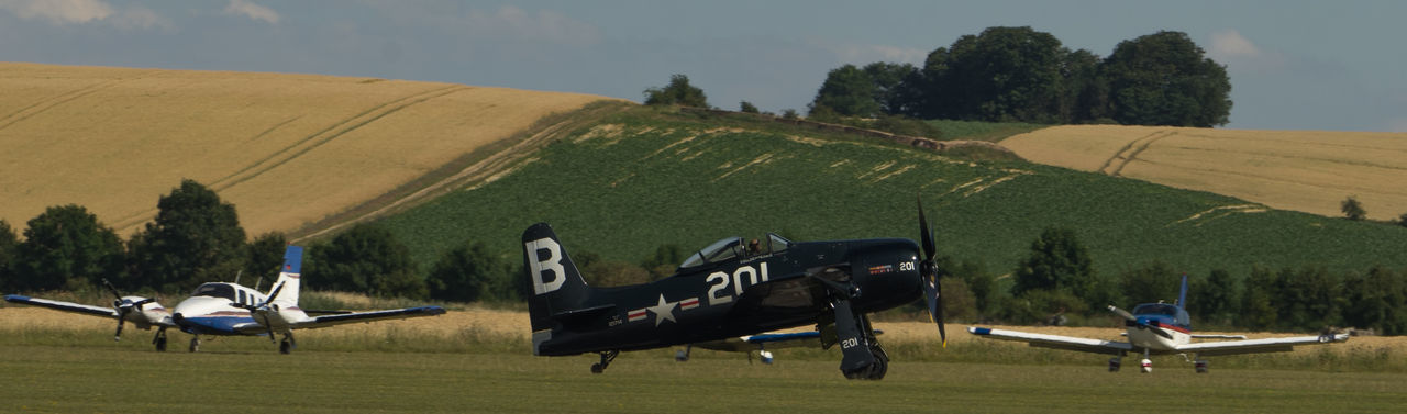 Bearcat Landing Duxford Air Show Duxford Imperial War Museum Plane Raw SONY A7ii Aircraft Wing French Manfrottobefree Spotter Warbird Ww2 Zeiss