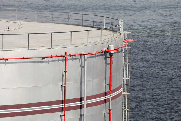 Fuel Storage Fuel Industry Day Metal No People No People, Sea Storage Storage Compartment Storage Tank Tank Water