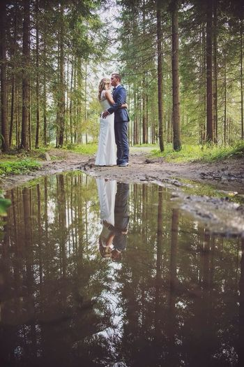 Forest Reflection Water Wedding Wedding Photography
